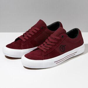 Vans Saddle Sid Pro Skate Sneakers Shoes Burgundy VN0A4BTB5U7 Size US 4-13