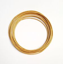 Genuine Round Leather Cord Gold 1mm 10 meters Section