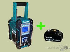 Makita Baustellenradio DMR108 Bluetooth inkl. AKKU BL1830B Nachf. DMR106 DMR102