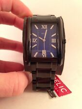 Relic by Fossil Allen Black IP Blue Dial Stainless Steel Mens Watch ZR77250-HL