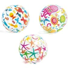 "3 Lg 20"" Inflatable beach ball Cute Colorful Design (Fish, starfish, & Octopus)"