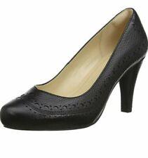 Clarks Dalia Ruby Black Leather Women's Shoes Size UK 4 1/2D