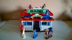 Jean Höfler Big Westerntown Westernstadt Bankhaus mit  Figuren