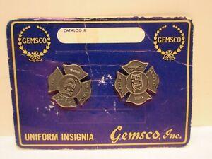 New York City Fire Department FDNY Uniform Insignia Gemsco Inc On Card NYC