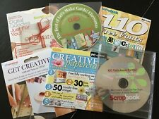 Craft CD roms x 6, fonts, digital stamps and more BN cards, crafts, scrapbooking