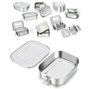 Stainless Steel Lunch Box Bento Box Food Container Storage Box with Compartments