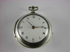 Antique original Irish Verge Fusee key wind pocket watch. Enamel Back. 1794