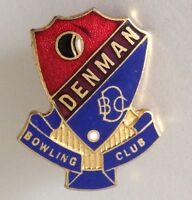 Denman Bowling Club Badge Pin Vintage Lawn Bowls (L32)