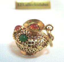 Tetera charm remolque 750 oro Charms con piedra charm/ar 623