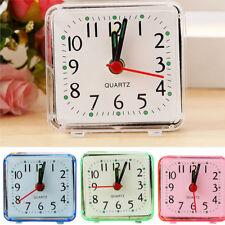 carré petit lit compact voyage quartz Bip Alarme Horloge Mignon portable