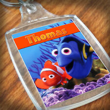 Personalised FINDING NEMO KEYRING, Lunch Bag, son daughter grandson Gift