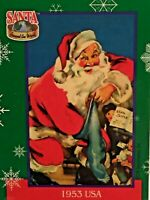 SANTA AROUND THE WORLD: SANTA & SNOWFLAKES 1995 TCM BASE CARD SET OF 72