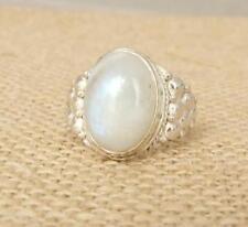Anillos de joyería con gemas de plata de ley piedra luna