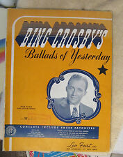 Bing Crosby Ballads of Yesterday Piano sheet music Guitar Chord Boxes