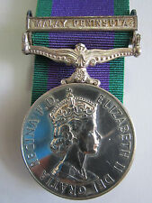 "British General Service Medal 1962 ""MALAY PENINSULA"" - P.L. Cheshire R.EL. R.N."
