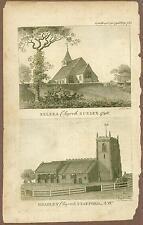 Illustration From Gent Magazine, Selsea Church & Bradley Church, Sept., 1798