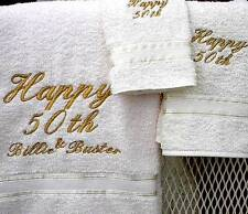 50th Anniversary Towel Set - Free Monogramming!