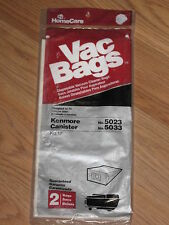 HomeCare Vac No.12 Kenmore Canister 5023/5033 Vacuum 2 Bags #MS32