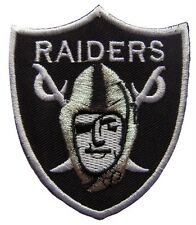 NFL Oakland Raiders Logo Football embroidered iron on patch. 2.5 x 3 inch (i50)