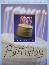 Pretty compleanno torta candele & molto speciale nipote compleanno auguri carta