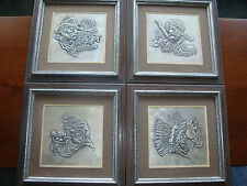 The Westerners Silver Wall Sculptures by Gordon Phillips Signed & Dated Rare Set