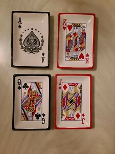 CRACKER BARREL FAMILY FUN NIGHT PLAYING CARDS SERVE WARE 4 SNACK PLATES