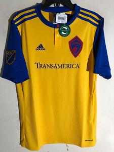 Adidas Youth MLS Jersey Colorado Rapids Team Yellow sz XL