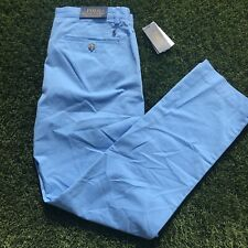 Polo Ralph Lauren Mens Khaki Stretch Straight Fit Pants Sz 38x30 Blue NWT