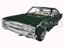 1966 DODGE CHARGER GREEN 1:18 DIECAST MODEL CAR BY ROAD SIGNATURE 92638