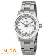 New Mido Multifort Automatic White Dial Silver  Unisex Watch women men RRP £900