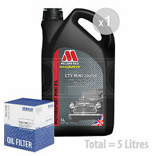 Engine Oil and Filter Service Kit 5 LITRES Millers CTV 20W-50 Semi Synth 5L