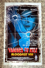 BLOOD FIST 8 - Trained to Kill * A1 VIDEO-POSTER - Ger 1-Sheet ´96 DON WILSON