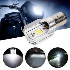DC 12V-24V H/L LED Motorcycle Scooter White Headlamp COB BA20D Headlight Bulb ES