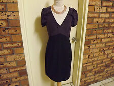 Rebecca Taylor Stunning Knee Length Dress with Exposed Back Zipper sz 12