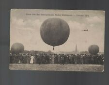 International Balloon Race October 1908 Original German Postcard