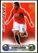 Carlos Tevez - Manchester United - Match Attax 08/09 Trade Card (C415)