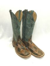 Men's Horsepower by AB Boots, Angry Bird Ostrich Patchwork, Style HP1075