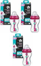 Tommee Tippee Girls Advanced Anti-Colic Feeding bottles 340ml x3   3m+  Bpa Free