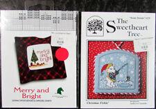 13x Xstitch Pattern  Merry&Bright/Fishin'/Crow/Haunting/Snowman/Ornaments-VB40