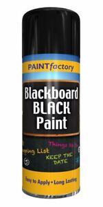 2 x Blackboard Black Spray Paint Kids Bedroom School Room Chalk Board - 250ml