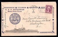 USA 1938 Shake Down Cruise Savannah on unusual signed cover WS11414