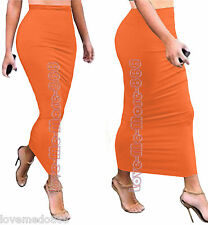 Womens Summer SLIM FIT Tight Casual Club Party Tube MAXI Long Skirt Dresses 2XL