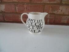 Emma Bridgewater 1/2 Pint Jug - Black Toast Dont Let The Cat Get The Milk - New
