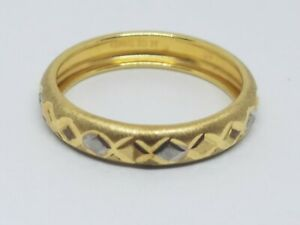 AK 10k Turkey Yellow Gold Band Fine Ring Size 7