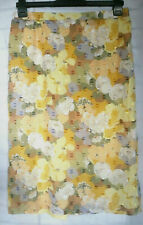 Floral Skirt Textured Sheer Pencil skirt lined Size 16