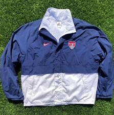 VTG 90s Nike White Tag USA National Soccer Lined Windbreaker Jersey Jacket L