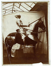 Photo citrate print 1890 - Armure et monture de chevalier - knight armor