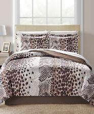 Brown Cheetah Leopard Safari Animal Prints Reversible Twin Comforter Set (6 Pc)