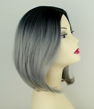 Brand New Grey ombre Synthetic Fibre Heat Resistant Wig Halloween Cosplay 270