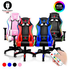 Gaming Chair Racing Office Chair Computer Chair With Rgb Led Lights Amp Massage